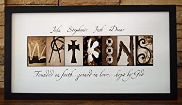Faith, Love and God - Framed Photo Letter Art - Personalized Alphabet Photography - Custom Name Sign