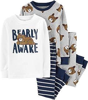 Toddler Boy's 4 Pc Monkey Pajama Cotton Set PJs