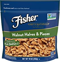 FISHER Chef's Naturals Walnut Halves & Pieces, 10 oz, Naturally Gluten Free, No Preservatives, Non-GMO