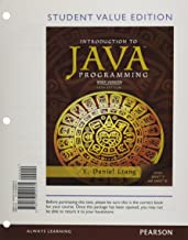Student Value Edition for Intro to Java Programming, Brief Version (10th Edition)