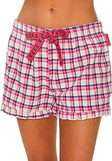 U.S. Polo Assn. Womens Elastic Waistband Lounge/Pajama Sleep Shorts