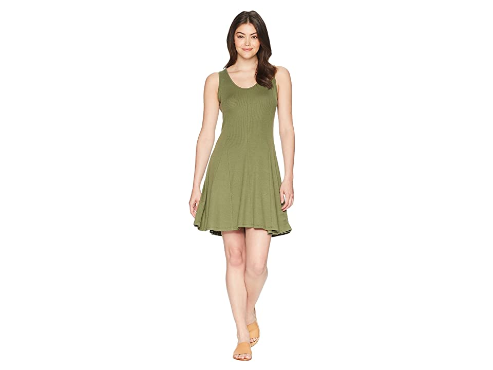 Toad&Co Daisy Rib Sleeveless Dress (Thyme) Women