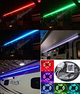 RV Awning Camper recreational vehicle RGB LED Lights 6 feet of LED Strips with 24 key IR remote control