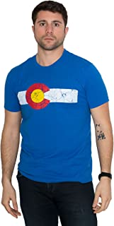 Colorado State Flag Distressed Unisex T-Shirt/Vintage Look CO Denver Tee