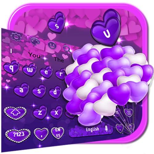 Purple Hearts Keyboard Theme