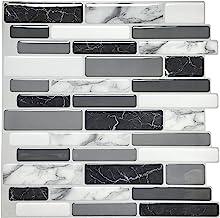 Art3d 10-vel Peel and Stick Tiles Zelfklevende Tegels Backsplash Voor Keuken, Vinyl Decoratieve Wandpaneel Marmer Stijl, 3...