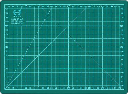 "DAFA Professional 12"" x 9"" Self-Healing, Double-Sided Cutting Mat, Rotary Blade Compatible, (36x24), (24x18), (18x12)..."