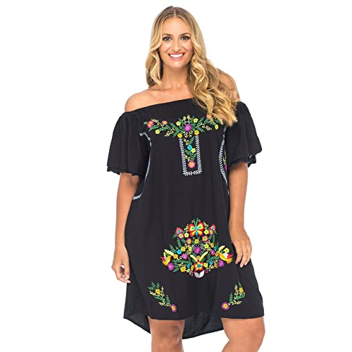 Plus Size Embroidered Dress: Amazon.com