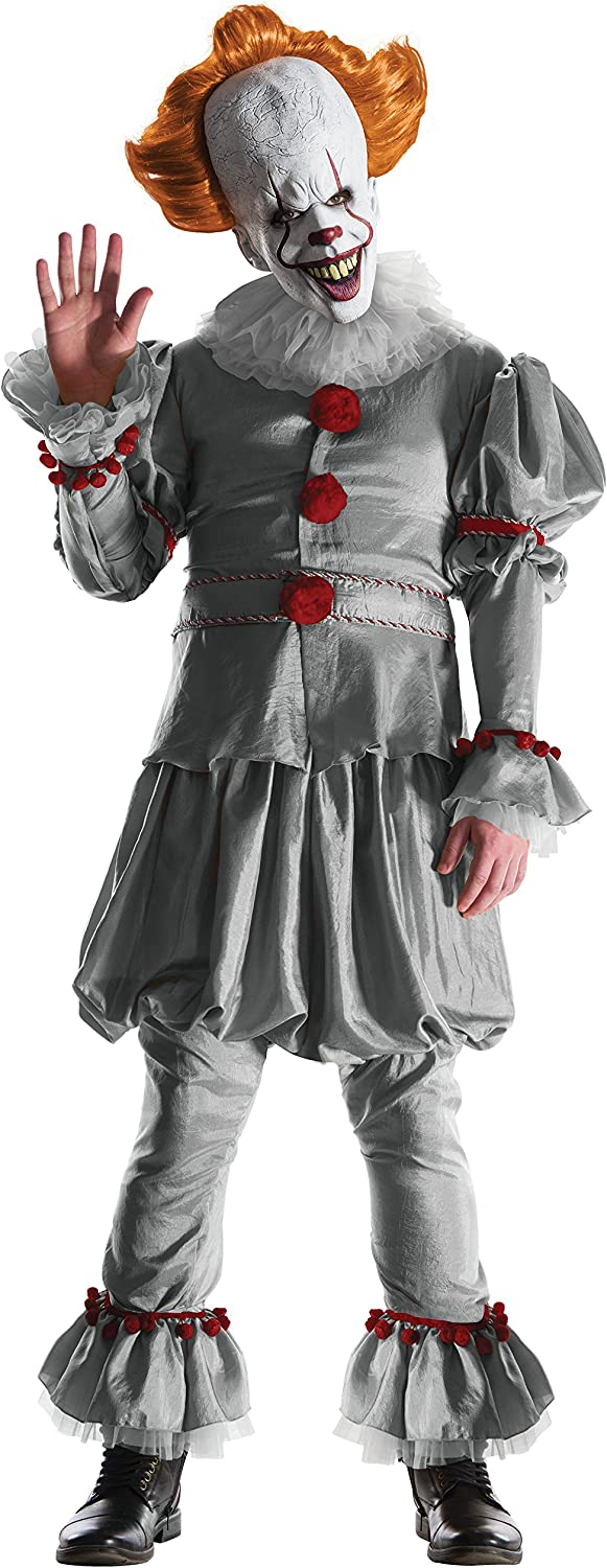 IT (2017 Film) Pennywise Deluxe Adult Costume, Standard