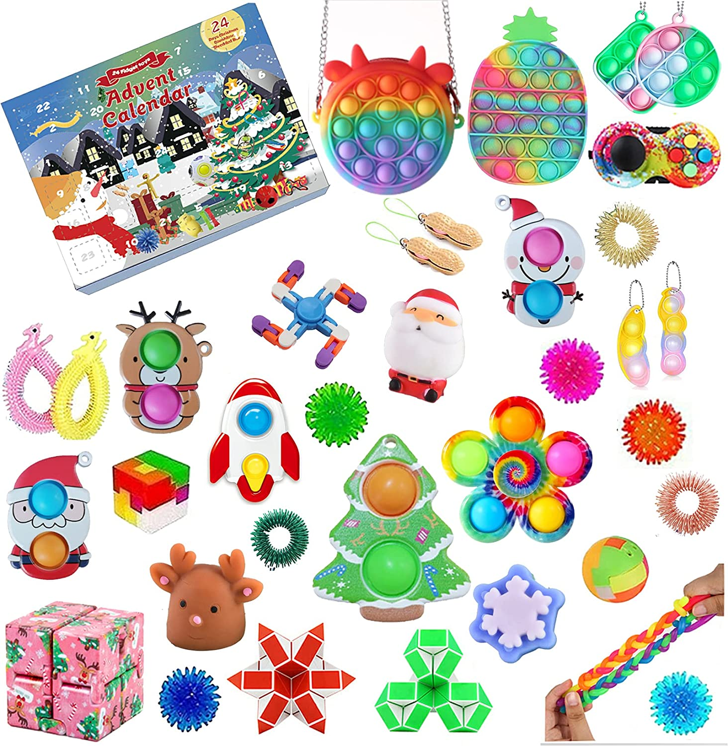 PXIAOPANG Sale Special Price Cheap mail order specialty store 40pcs Fidget Advent Calendar Packs Christmas 2021 Toy