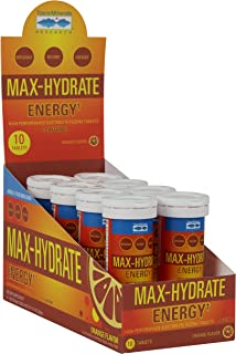 MAX-Hydrate Energy, HIGH Performance Electrolyte FIZZING Tablets Plus Caffeine