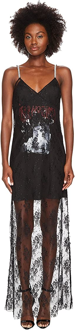 McQ - Strap Bias Mixed Lace Dress