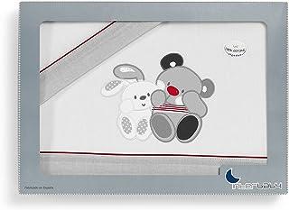 Interbaby Amigos - Juego de sábanas para coche, color gris