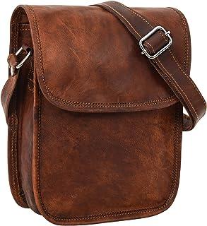 Gusti Umhängetasche Leder - Tamara Ledertasche Handtasche Vintage Braun Leder