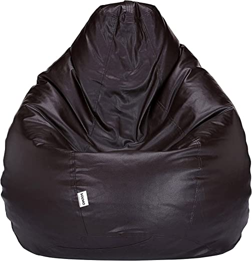 Amazon Brand – Solimo XXXL Bean Bag Cover Without Beans (Brown)