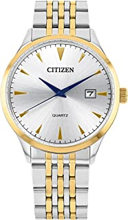 ساعة يد انالوج بحركة كوارتز للرجال مع نافذة لعرض التاريخ من سيتيزن- DZ0064-52A