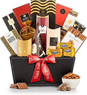 GiftTree Broadway Gourmet Thank You Gift Basket | Premium Chocolate, Gourmet Cookies, Mixed Nuts & More | Perfect Way to Show Your Appreciation