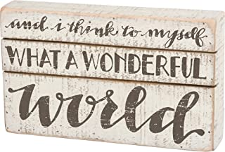 Primitives by Kathy What a Wonderful World Box Sign 6.5