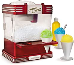 Nostalgia RSM602 Countertop Snow Cone Maker Makes 20 Icy Treats, Includes 2 Reusable..