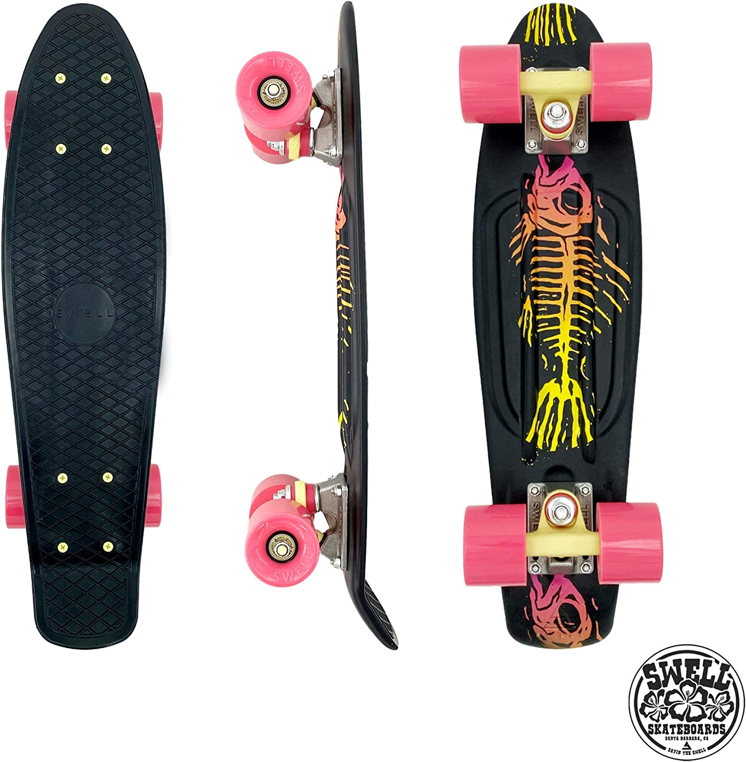 Shipping included Swell Skateboards 22 28 Inch Max 62% OFF Kids Cruiser Mini for Plastic
