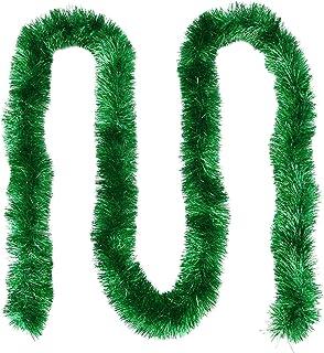 SLDHFE Lot de 2 guirlandes de Noël, 230 cm, guirlande en métal pailleté sapin de Noël torsadé, guirlande en métal étincela...