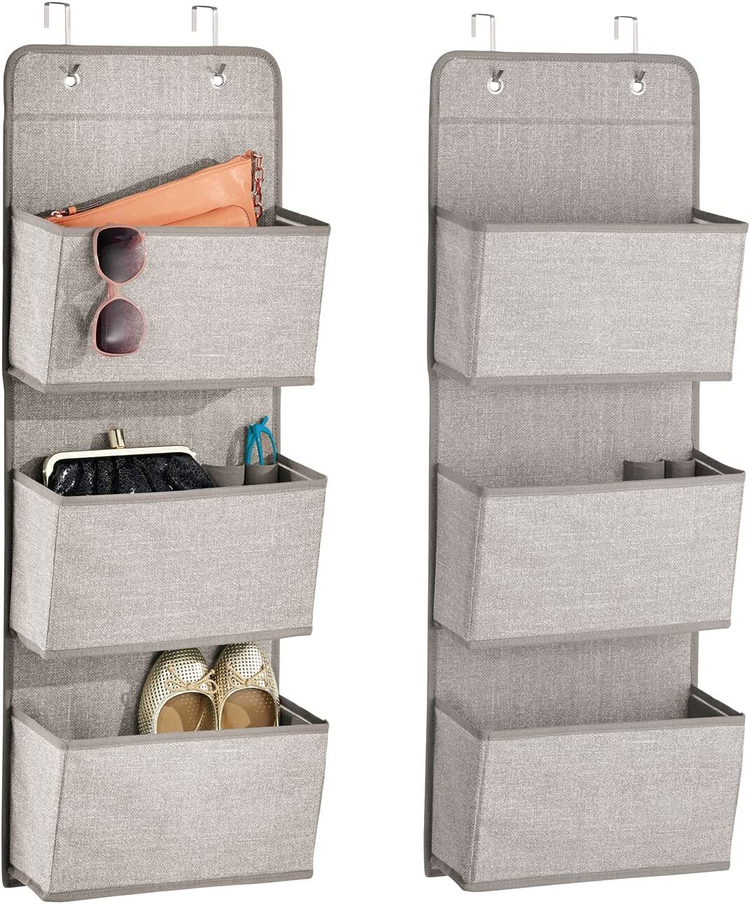 mDesign Soft depot Fabric Discount mail order Over The Hanging with Storage Door Organizer