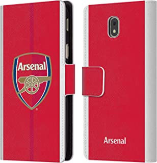 Official Arsenal FC Home 2016/17 Crest Kit Leather Book Wallet Case Cover Compatible for Samsung Galaxy J5 (2017)