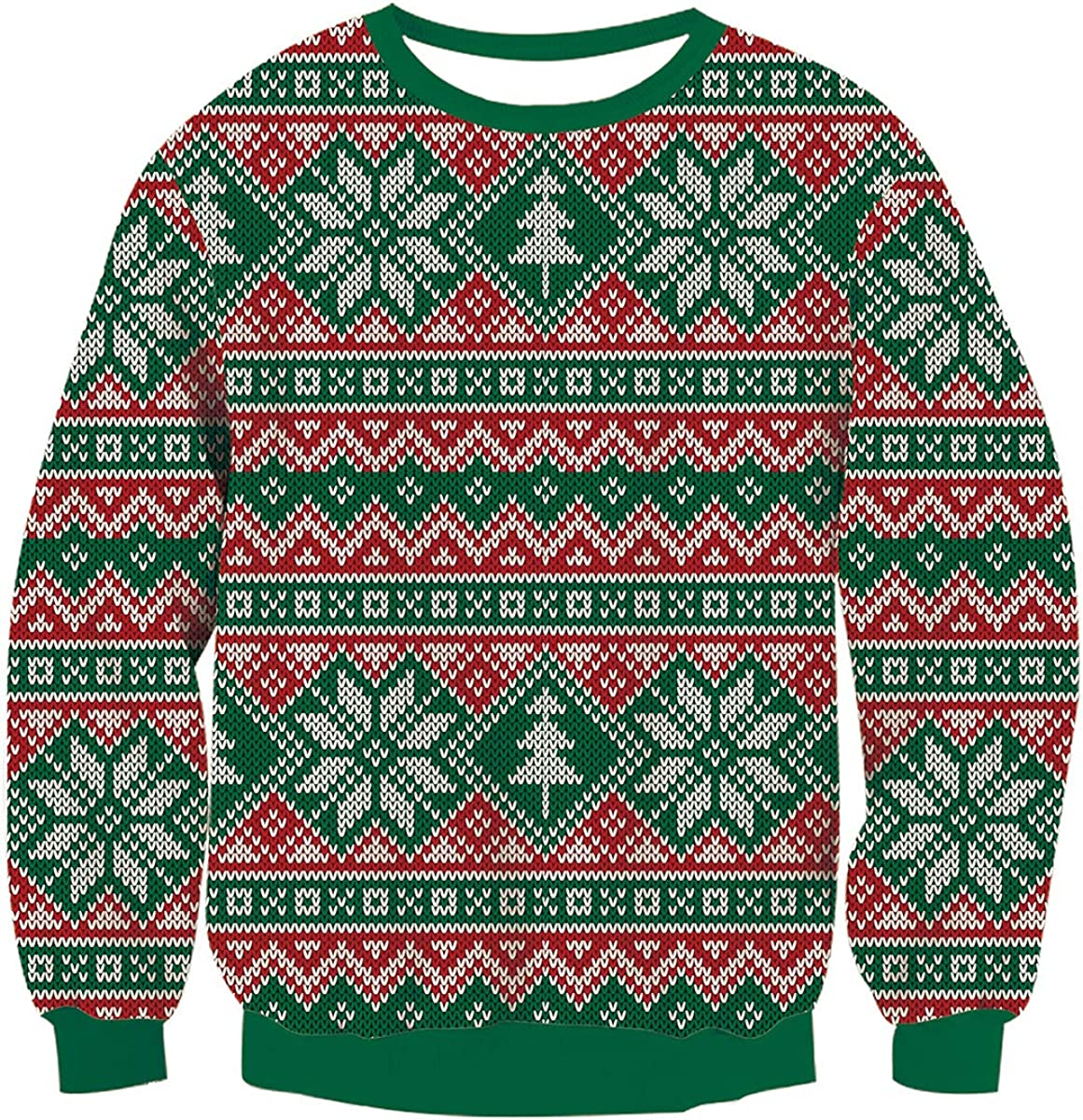 Cheap Tulsa Mall mail order sales AIDEAONE Unisex Ugly Christmas Sweater Funny Women Long Men Slee