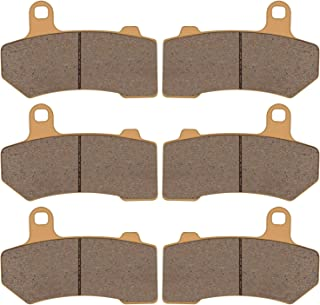 Zinger Brake Pad for Harley Davidson VRSCA/VRSCB/Touring Series,2Front +1Rear Replacement Double-H Sintered Brake Pads,Fits 2008-2015Harley Davidson FLHX Street Glide+2008-2018FLHRC Road King Classic