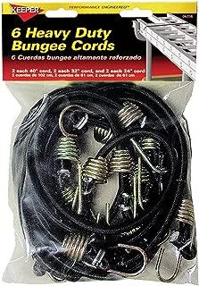 Keeper 06356 Heavy Duty Bungee Cord, 6 Piece