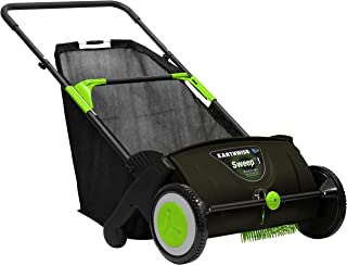 Earthwise LSW70021 21-Inch Leaf & Grass Push Lawn Sweeper, Width, With Rear Collection Bag