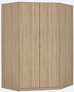 Rauch Eck-Kleiderschrank begehbar Eiche Sonoma 117 x 117 cm