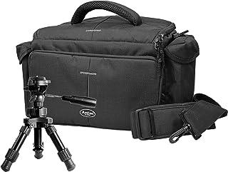 Foto Kamera Tasche Action Black M Set mit Makro Tischstativ inkl. Stativtasche für Canon EOS 1300D 760D 750D 700D 800D 80D 650D 600D 100D Nikon D7200 D610 D500 D5500 D5300 D3300 D3200