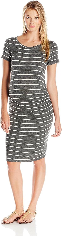 Everly Grey Women's Maternity Camila Short Sleeve TShirt with Side Shirring