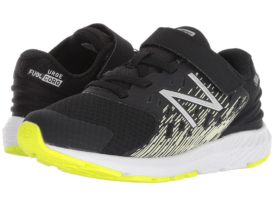 New Balance Kids KVURGv2P (Little Kid) (Black/Glow) Boys Shoes