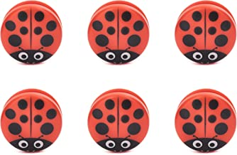 Kikkerland Ladybug Bag Clips (Set of 6), Red
