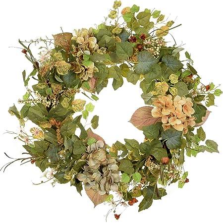 Amazon Com Poetic Wreath Spring Wreath Large 24 Inch Wreath Green Grapevine Wreath Year Round Wreath Summer Wreath Front Door Wreath Festival Wreath Gifts Handmade Wreath Rustic Wreath Kitchen Dining