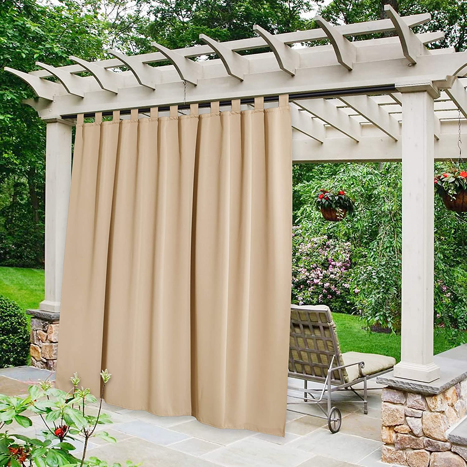 NICETOWN Outdoor Curtain for All items free Sales for sale shipping Patio Waterproof inch Extra 108 Lon