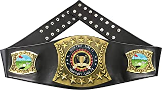 Express Medals Custom Golf Trophy Personalized Championship Leather Belt EG130