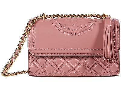Tory Burch Fleming Small Convertible Shoulder Bag (Pink Magnolia) Shoulder Handbags