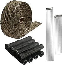 LEDAUT Titanium Exhaust Heat shield Wrap Roll 2