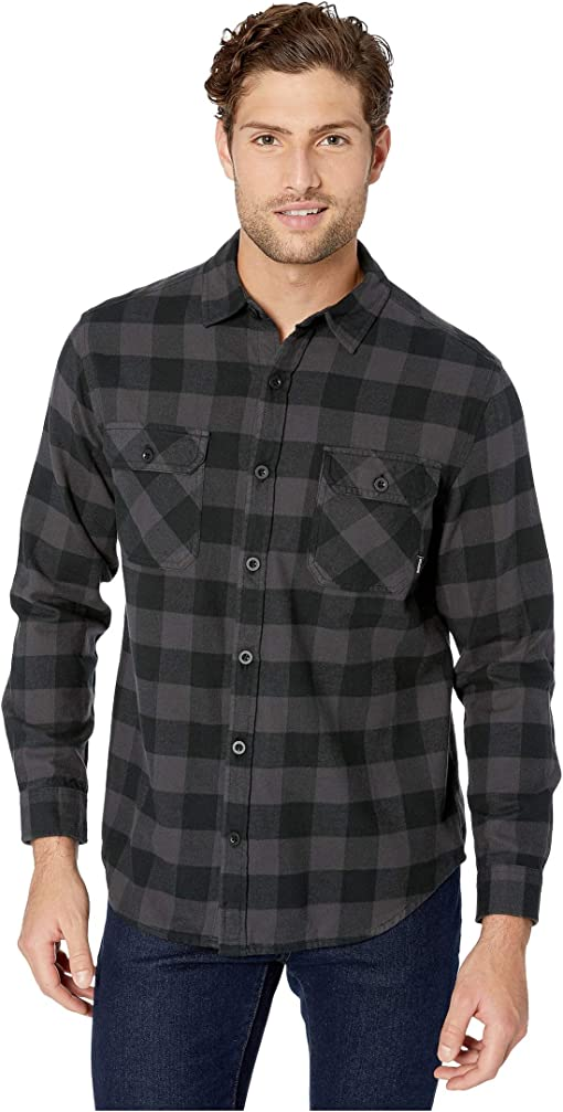 True Black Heather Buffalo Plaid