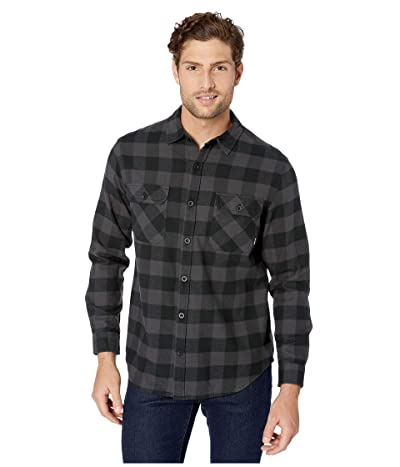 Burton Brighton Flannel (True Black Heather Buffalo Plaid) Men