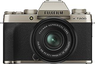 Fujifilm X-T200 Mirrorless Digital Fujifilm X-T200 Mirrorless Digital Camera with 15-45mm Lens, Champagne Gold (16646430)