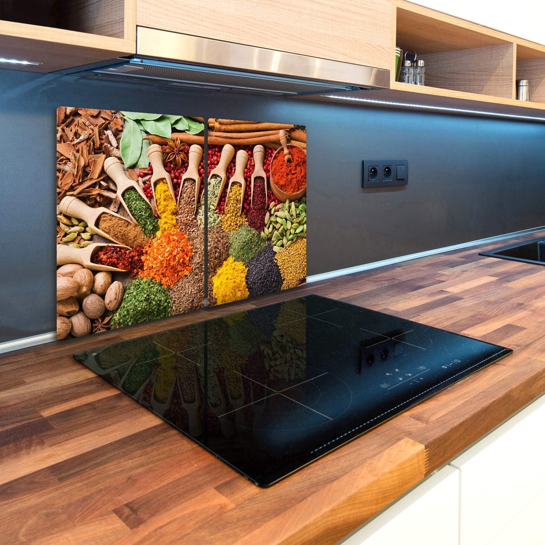 Especias Tulup Tabla De Cortar Cocina 2x30x52cm Vidrio Protector De Placa De Induccion