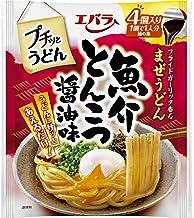 エバラ プチッとうどん 魚介とんこつ醤油味 (22g×4個) ×4袋
