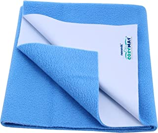 Cozymat Dry Sheet Waterproof Breathable Bed Protector (Size: 70cm X 50cm) Firoza, Small