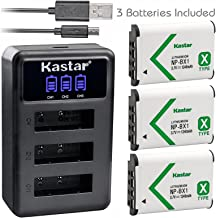 Kastar Battery x3 + Charger for Sony NP-BX1 HDR-AS200V HDR-AS30 HDR-AS300 HDR-AS50 HDR-CX240 HDR-CX405 HDR-CX440 HDR-GW66 HDR-GWP88 HDR-MV1 HDR-PJ240 HDR-PJ270 HDR-PJ405 HDR-PJ410 HDR-PJ440 DSC-HX99