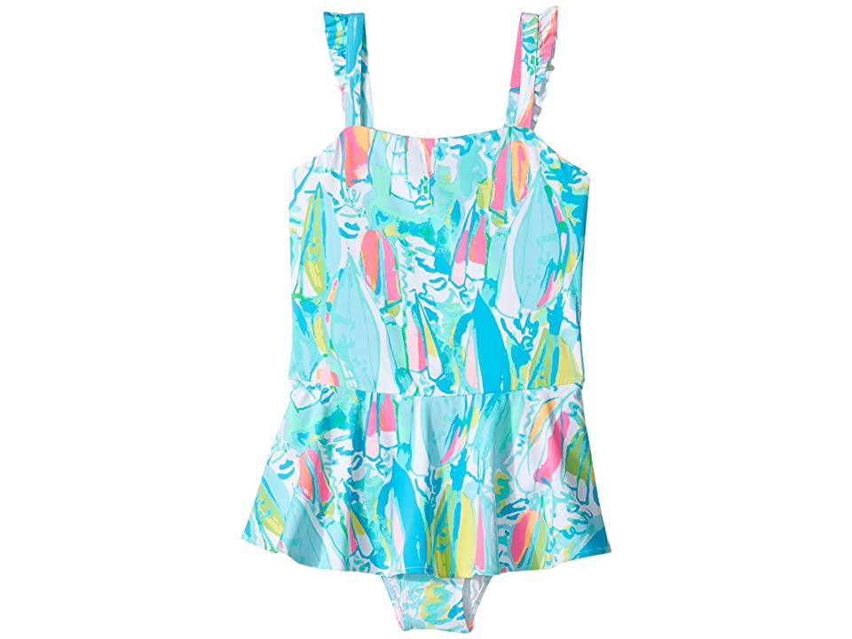 Lilly Pulitzer Kids Mindy Swimsuit (Toddler/Little Kids/Big Kids) (Multi Beach and Bae) Girl