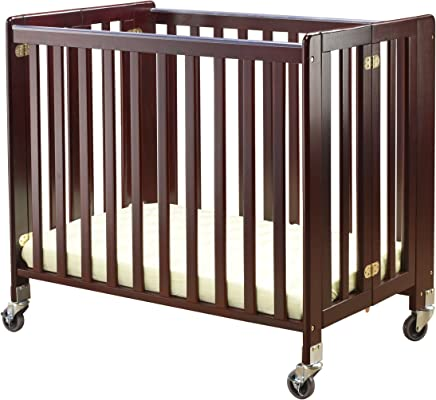 featured product Orbelle Trading Lilly Commercially Rated Portable Crib,  Cherry (Discontinued by Manufacturer)